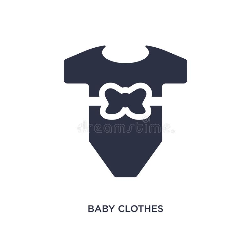 Baby clothes icon on white background. Simple element illustration from kid and baby concept. Baby clothes icon. Simple element illustration from kid and baby vector illustration