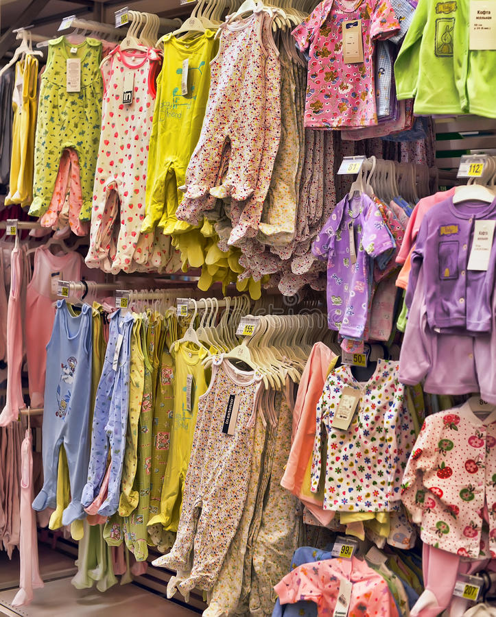 Baby Clothes For Newborns In The Store Editorial Photo Image Of