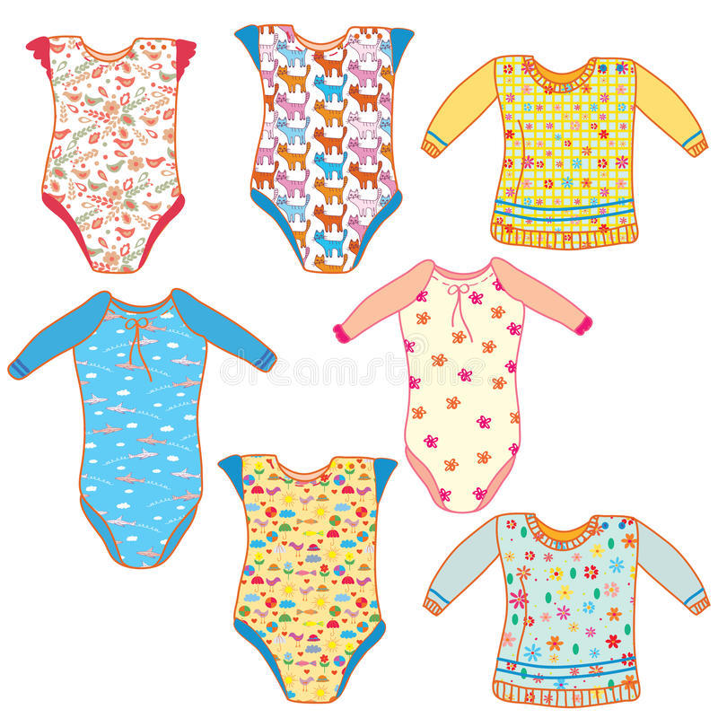 Baby clothes set royalty free stock photos