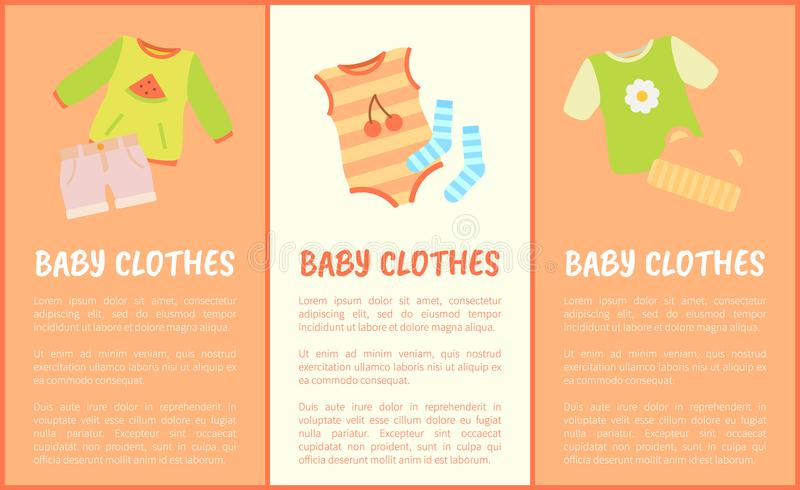 Baby Clothes Set, Multicolored Vector Illustration vector illustration