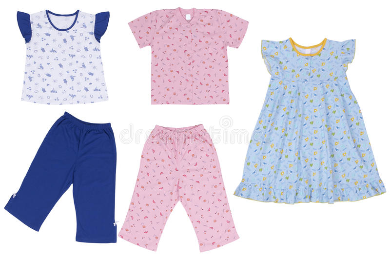 Baby clothes. Wear isolated on white background stock images