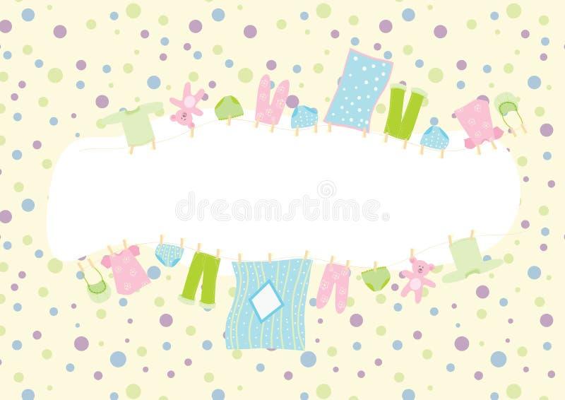 Baby clothing frame royalty free illustration