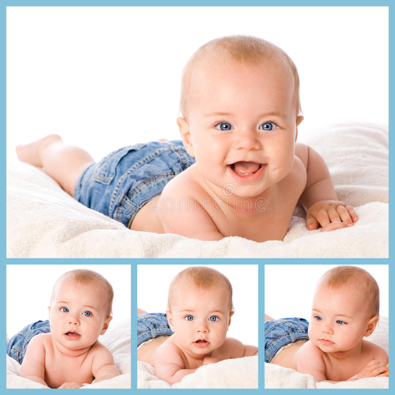 Baby collage royalty free stock images