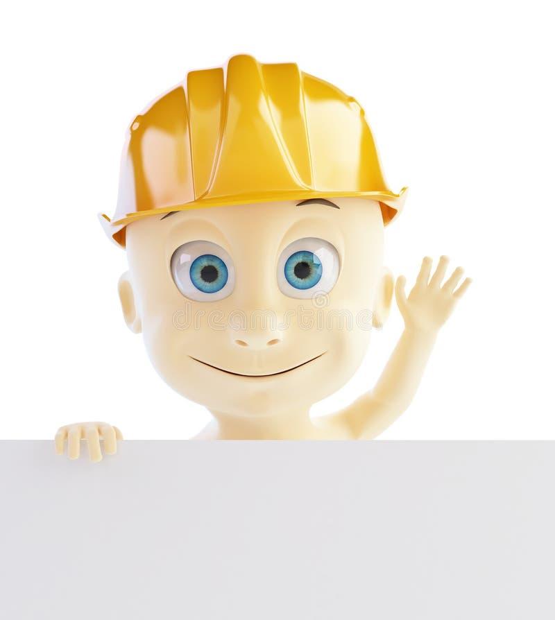Download Baby Construction Helmet Form Stock Illustration - Image: 28938068