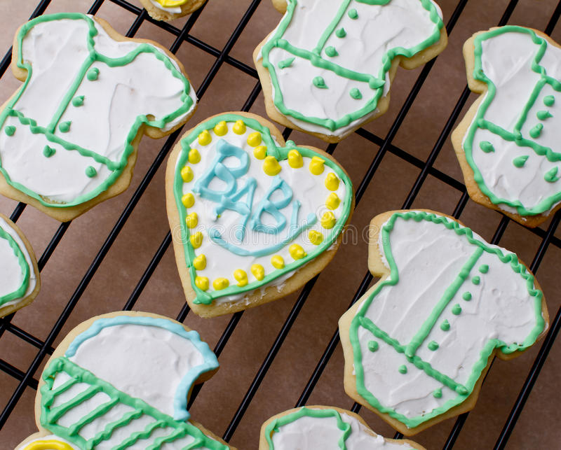 Download Baby cookies stock photo. Image of food, heart, baked - 19227578