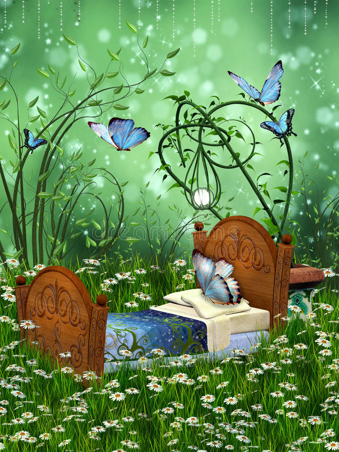 Download Baby cradle fantasy stock illustration. Image of fantasy - 26555057