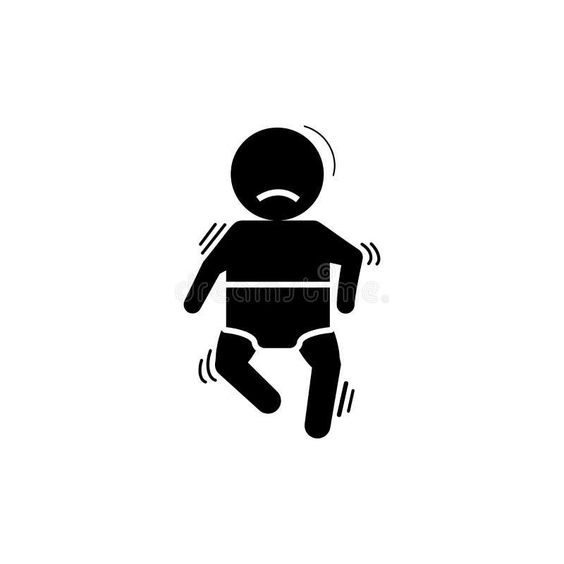 Baby, cramp, seizure icon. Element of baby icon stock illustration
