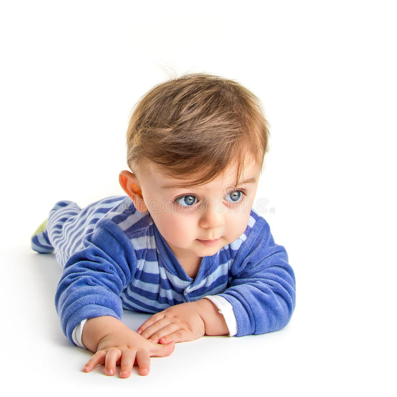 Baby crawling royalty free stock photography