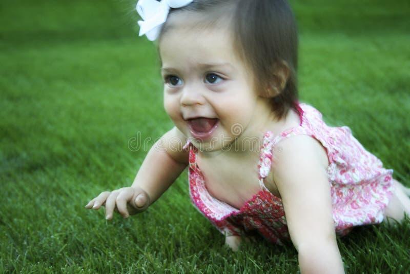 Baby crawling time royalty free stock image