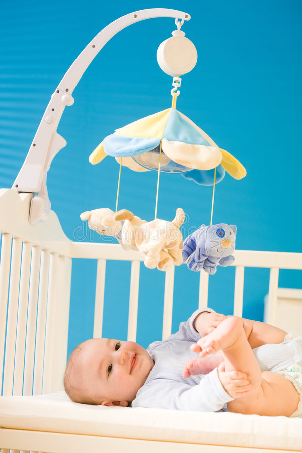 Download Baby On Crib Royalty Free Stock Photography - Image: 4687117