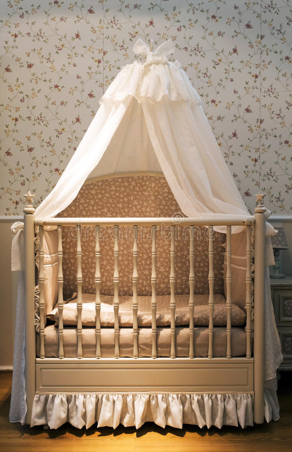 Baby crib stock photos
