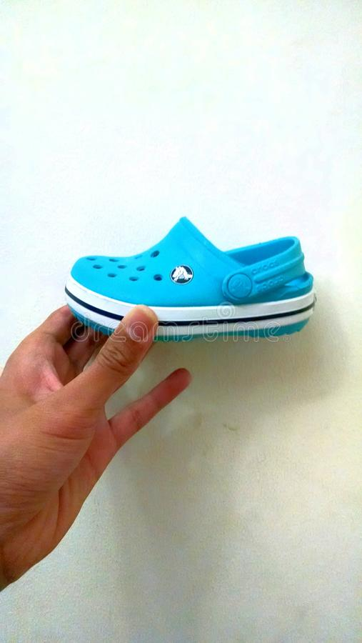 Baby crocs shoes stock photography