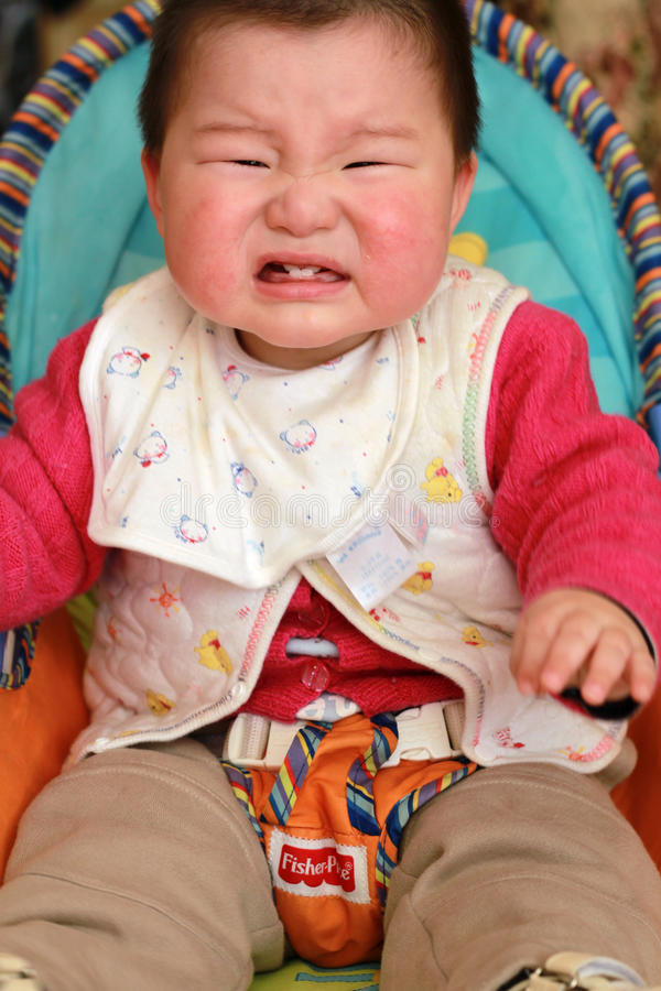 Baby crying royalty free stock photos