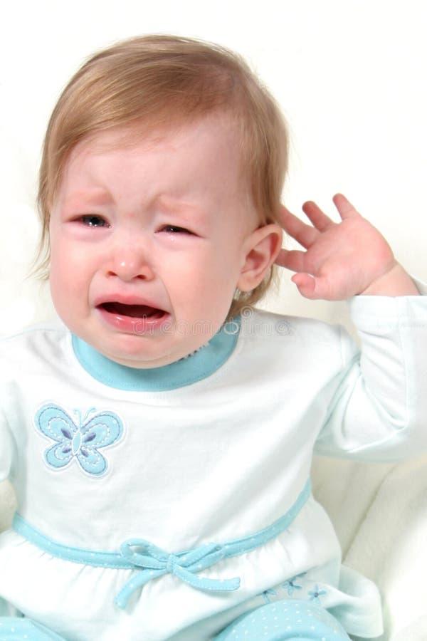baby crying girl στοκ εικόνες με δικαίωμα ελεύθερης χρήσης