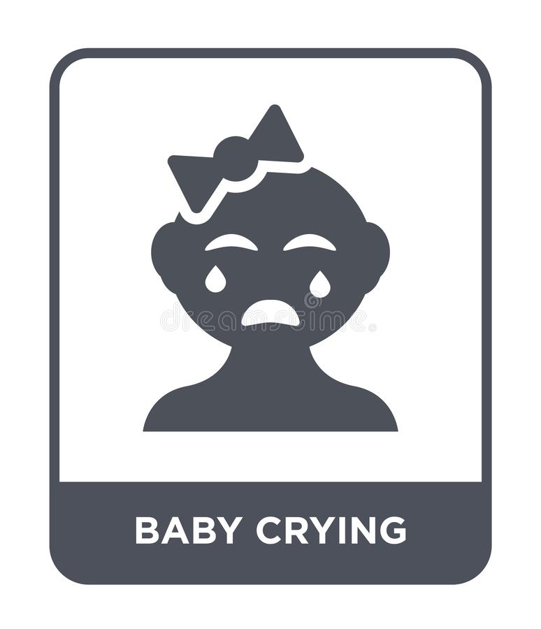 baby crying icon in trendy design style. baby crying icon isolated on white background. baby crying vector icon simple and modern vector illustration