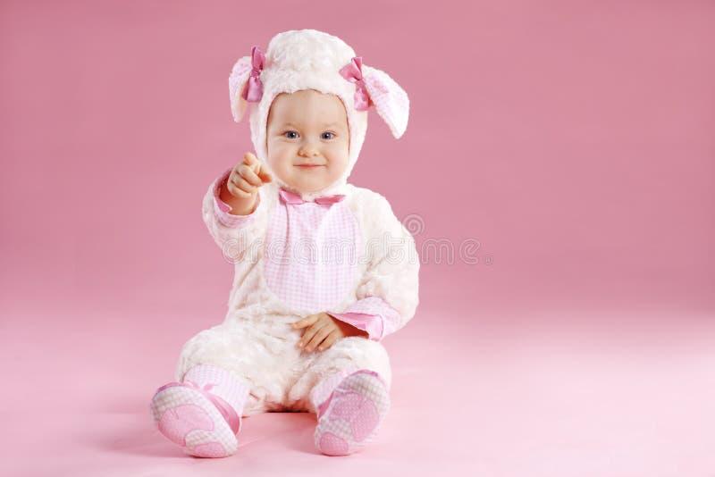 Baby in custume stock afbeelding