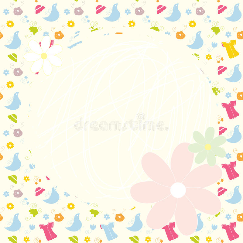 Baby cute background with dresses