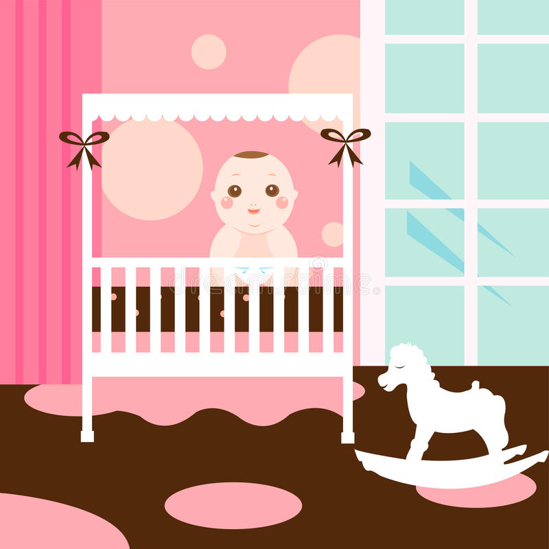 Baby cute room royalty free illustration