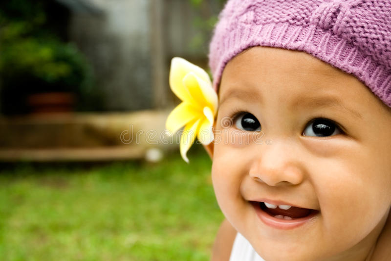 Baby cute smile royalty free stock image