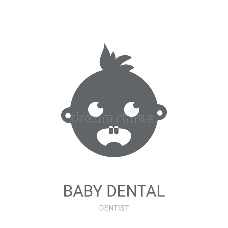 Baby dental icon. Trendy Baby dental logo concept on white background from Dentist collection royalty free illustration
