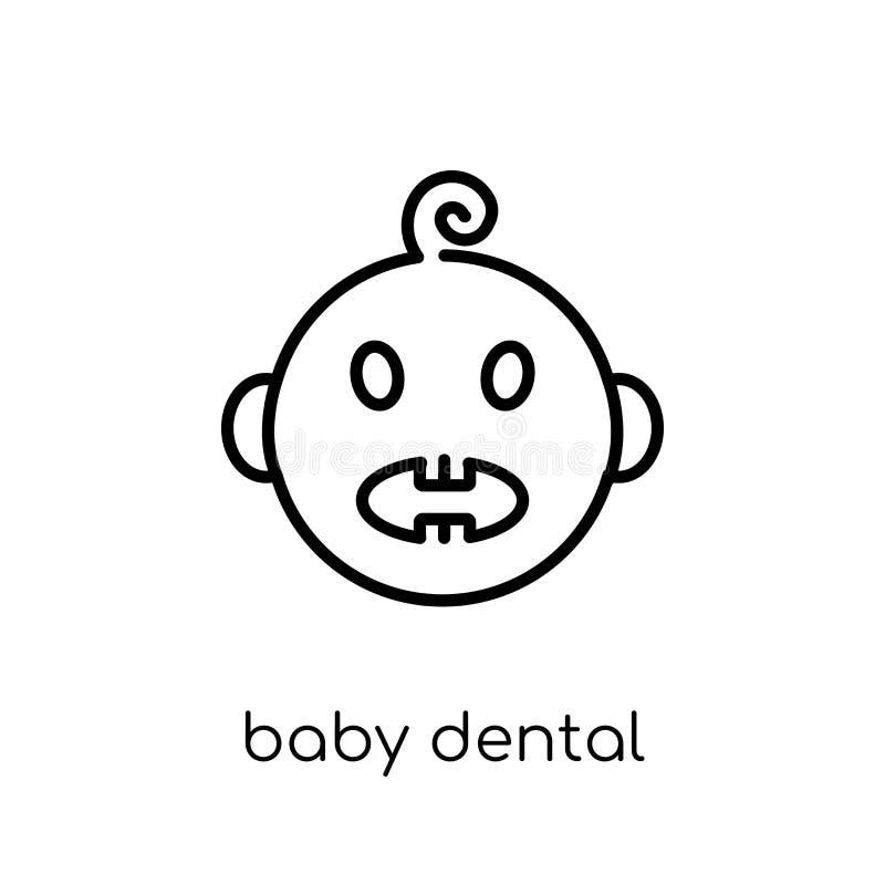 Baby dental icon. Trendy modern flat linear vector Baby dental i vector illustration
