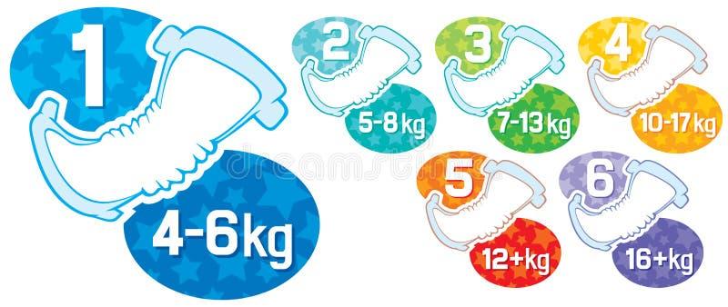 Baby diaper vector illustration
