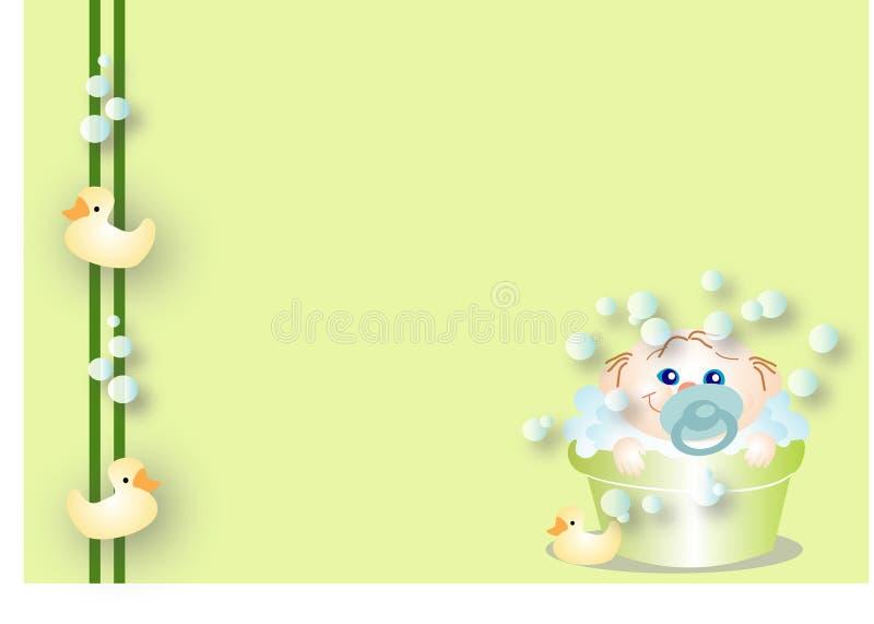 Baby die een bad neemt stock illustratie