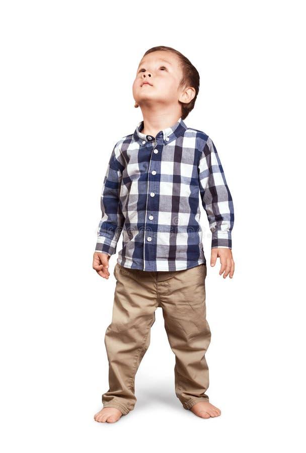 Baby die omhoog kijkt royalty-vrije stock afbeelding