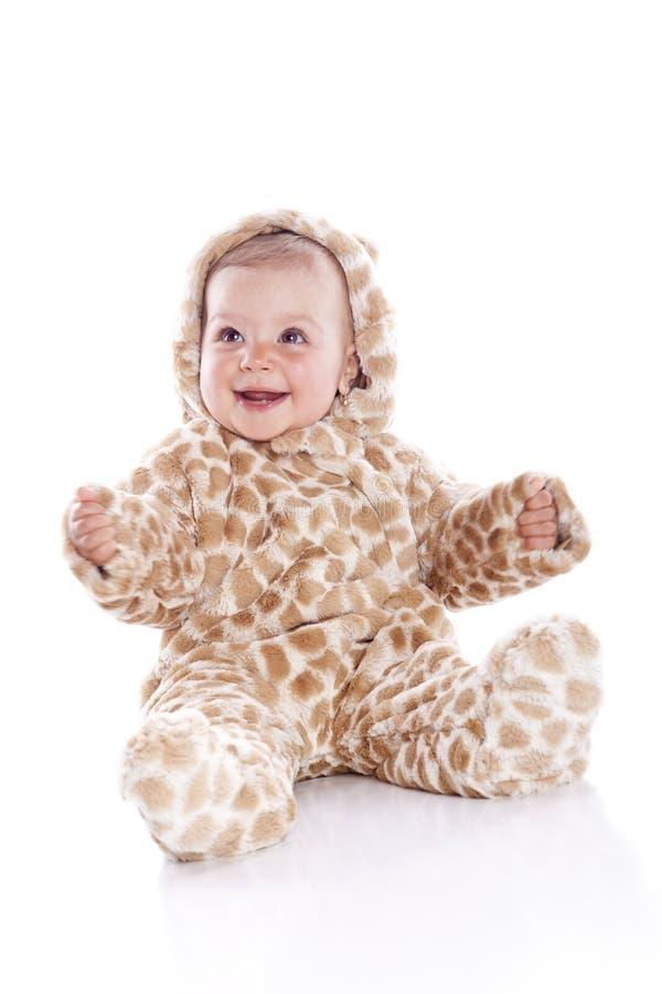 Baby die tijgerkostuum draagt royalty-vrije stock afbeeldingen
