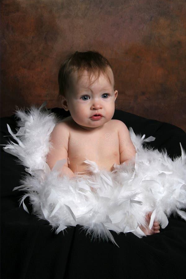 Baby die in Veren wordt verpakt royalty-vrije stock afbeeldingen
