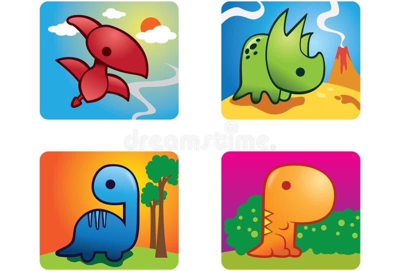 Baby Dino. Cute illustration of baby dinosaurs royalty free illustration