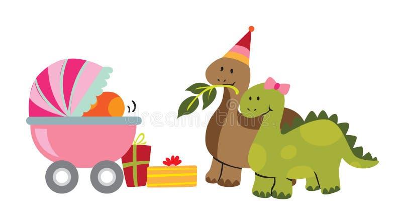 Download Baby Dinosaur stock vector. Image of birthday, pram, child - 16791654