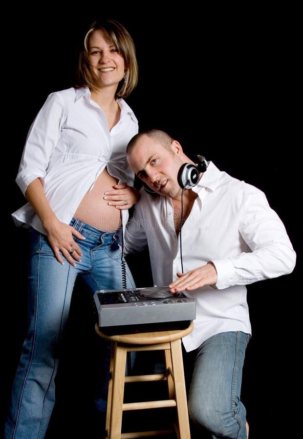 Baby DJ stock afbeeldingen