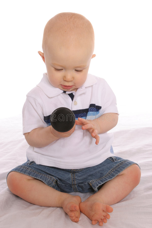 Download Baby DJ five stock image. Image of sing, play, little, concert - 176055