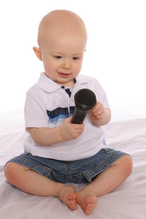 Download Baby DJ One stock image. Image of play, baby, sing, toddler - 176053