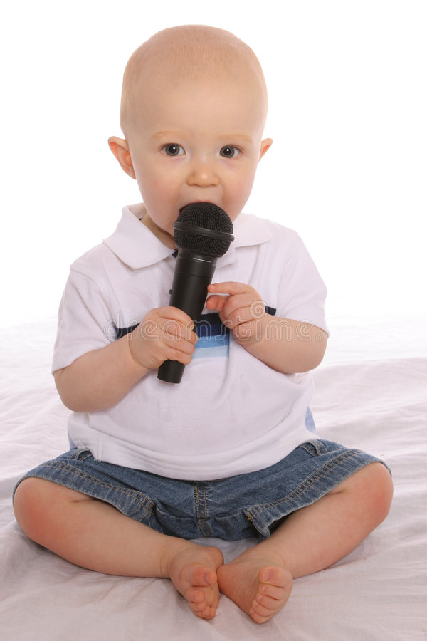 Download Baby DJ two stock photo. Image of singer, sound, music - 176054