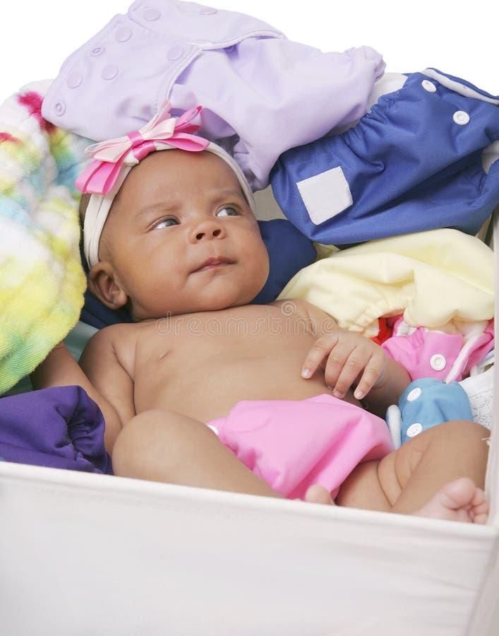 Baby in doekluiers