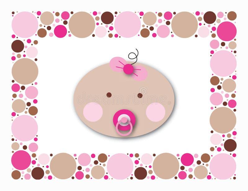 Baby Dots Girl royalty free stock image