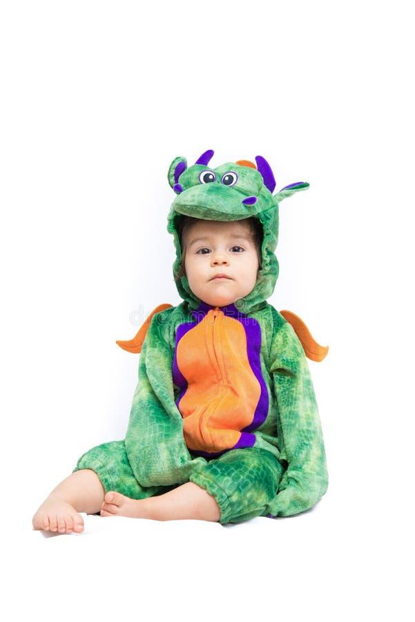 Baby Dragon Costume lizenzfreie stockfotografie