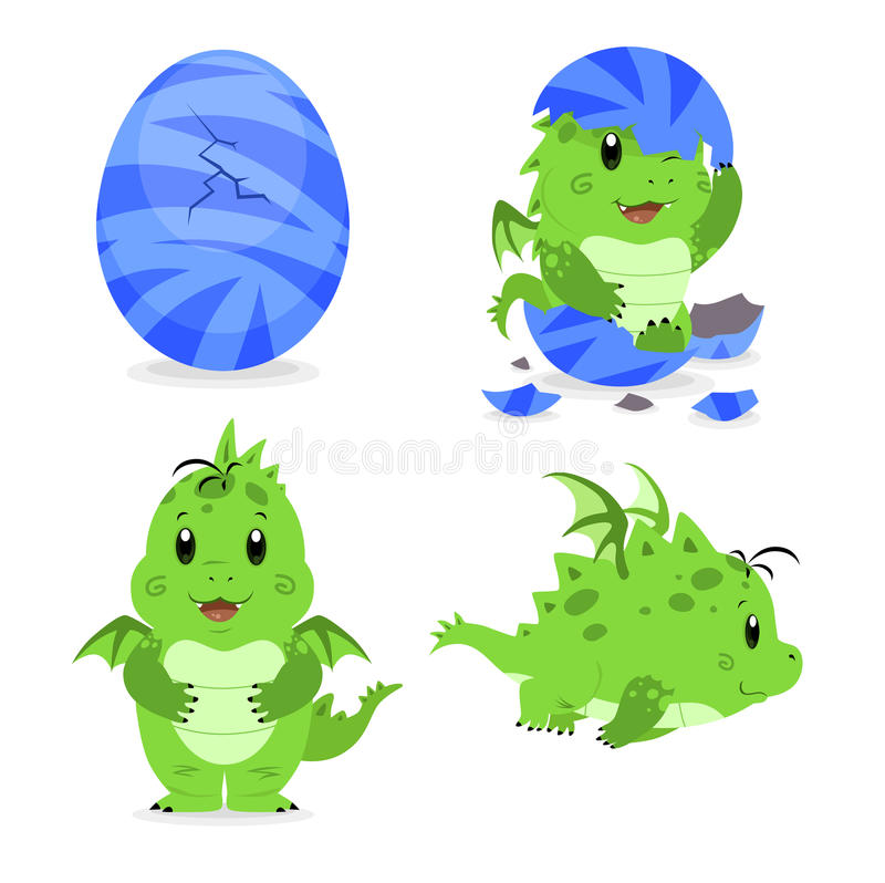 Download Baby dragon hatching stock vector. Image of fantasy, youngster - 19941552