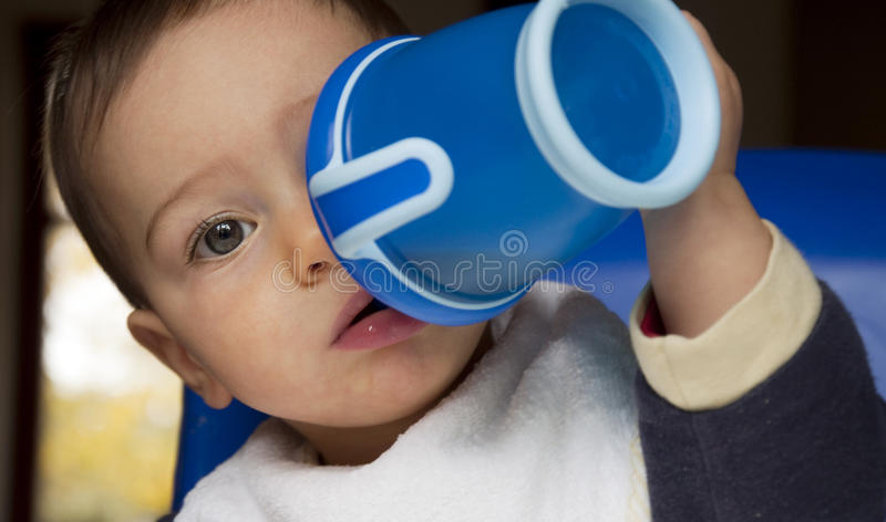 Baby Drinking Stock Images