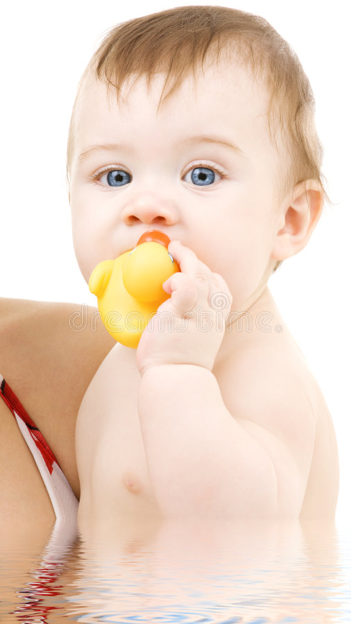 Download Baby With Duck Royalty Free Stock Photo - Image: 7968205