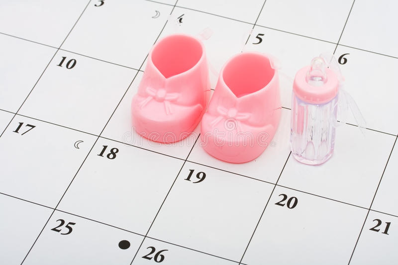 Baby Due Date royalty free stock photos