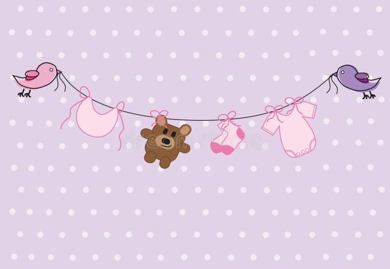 Baby-Dusche lizenzfreie abbildung