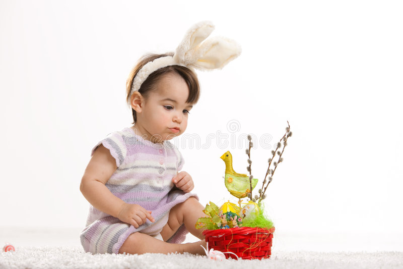 Download Baby In Easter Bunny Costume Stock Image - Image: 8593299