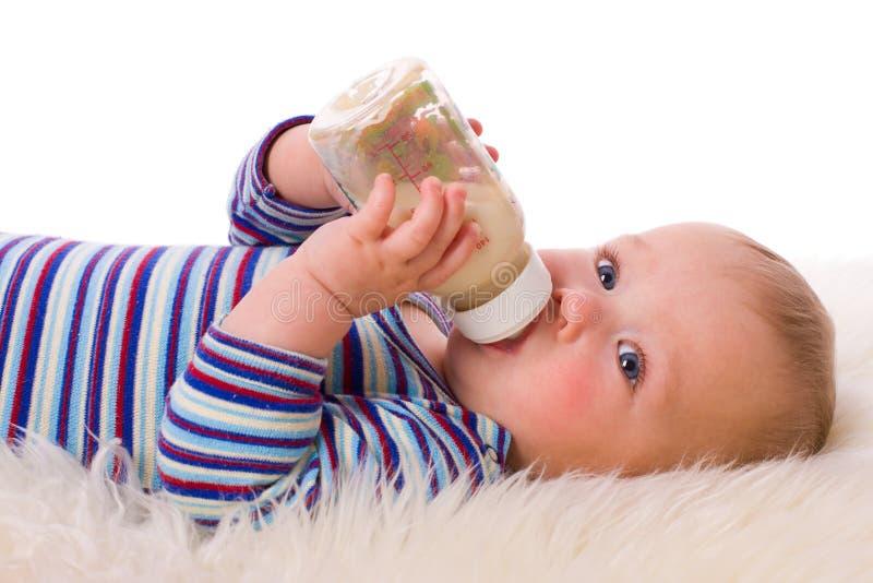 Baby Eating Stock Photo