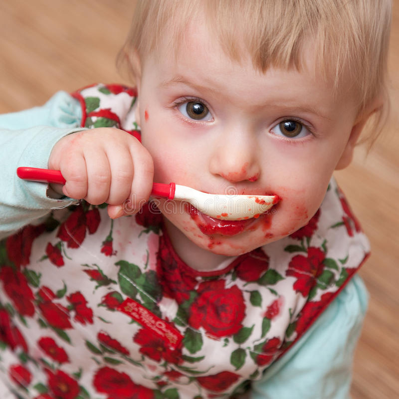 Download Baby eating stock photo. Image of portrait, hungry, health - 26517332