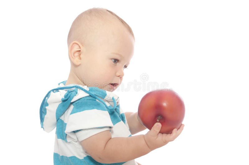 Download Baby Eating Apple stock photo. Image of apple, biting - 15894584