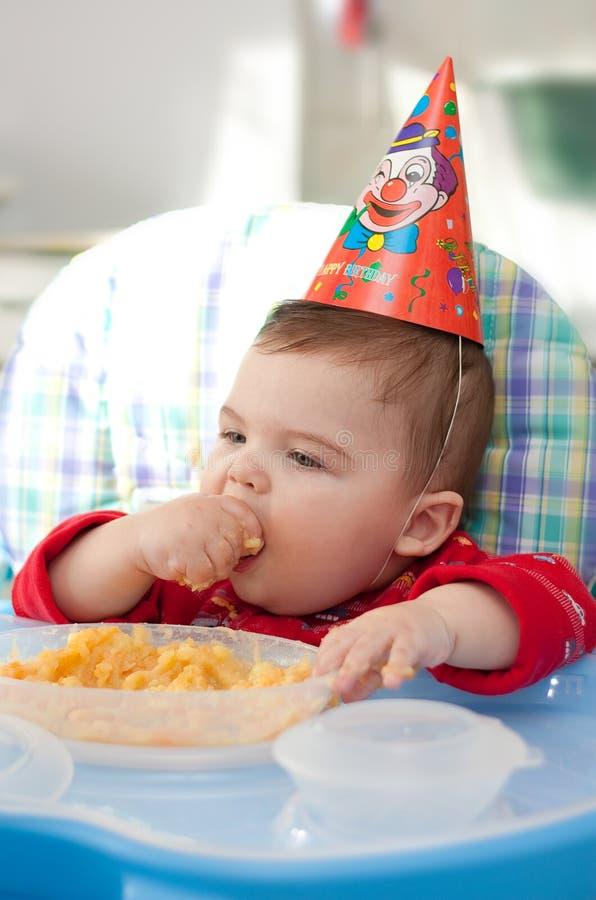 Free Baby Eats Porridge Stock Photography - 13974652