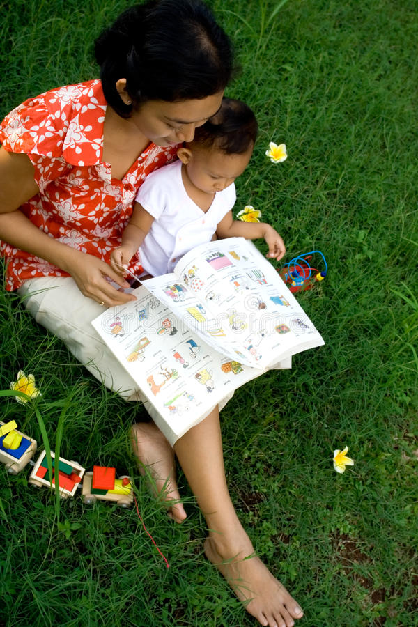 Baby education stock photo